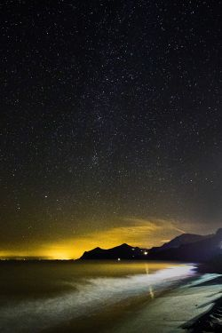 Nefyn Beach at Night