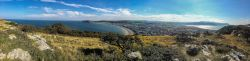 Panorama from Great Orme of Llandudno, Little Orme and Snowdonia