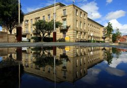 Bury Town Hall, Reflected in a Puddle