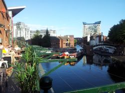 Canals through Birmingham city centre