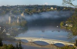 Morning Mist above the Wye, Chepstow