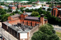 Silk Mill from Derby Cathedral Wallpaper