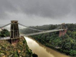 Rainy day at Clifton Suspension Bridge