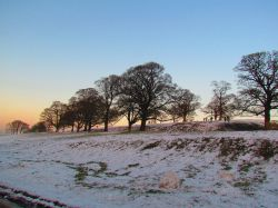 First Snow, Lyme Park Wallpaper
