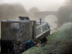 A foggy morning along The Grand Union Canal, Loughborough