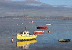 Small boats at high tide, Morecambe