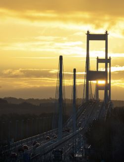 Severn Bridge M48 Sunrise, Chepstow.