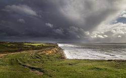 STORM APPROACHING AT BARTON ON SEA