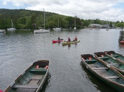 Canooing on Lake Windermere