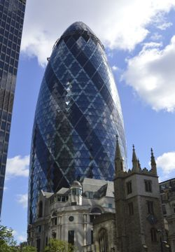 Buildings old and new in the City of London