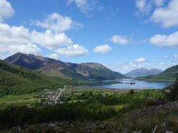 Glencoe village and Loch Leven