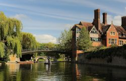 Punting tour along the River Cam