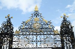 Upper part of  Wrought Iron Gate at east end of Garden Quad, New College, Oxford