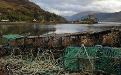 Lobster pots at the Eilean Donan Castle - Scottish Highlands