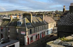 Lerwick roofs from Fort Charlotte