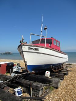 Fisher boat on the beach, Deal