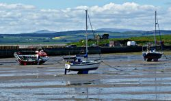 The harbour on Holy Island
