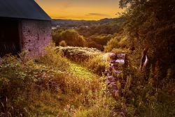 Offa's Dyke Barn Sunset, Brockweir.