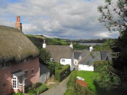 The village of Dittisham, Devon