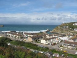 Sea breeze at Portreath in Cornwall Wallpaper