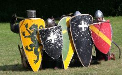 Shielded Medieval Knights at Arundel Castle