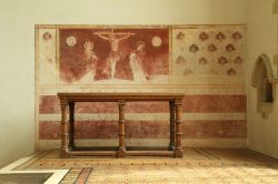 Wall paintings in People's Chapel, Dorchester Abbey