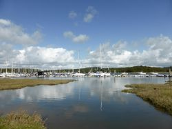 View of the Beaulieu River at Bucklers Hard, Hampshire