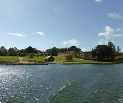 View of Buckler's Hard from the Beaulieu River, Hampshire