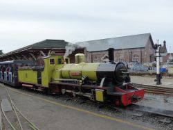 Ravenglass & Eskdale railway Northern Rock at Ravenglass