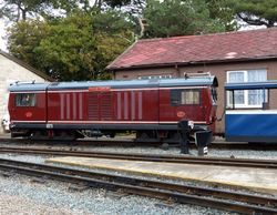 Ravenglass & Eskdale railway - Douglas Ferreira at Ravenglass