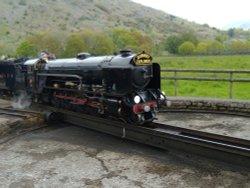 Ravenglass & Eskdale railway 'Samson' at Dalegarth