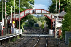 Oakham Railway Station Lattice Work Footbridge