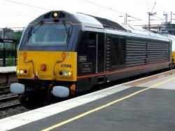 Royal Train Locomotive at Northampton Station