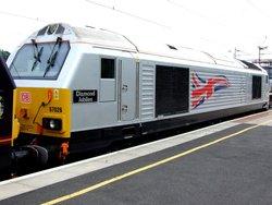 'Diamond Jubilee' Locomotive at Northampton