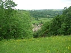 View of Rievaulx Abbey from Rievaulx Terrace