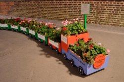 Leamington Spa Railway Station Floral Train