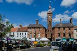 Market Square in Louth,Lincolnshire