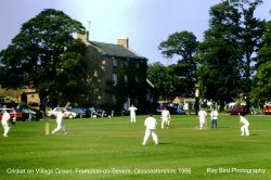 Cricket on the Village Green, Frampton-on-Severn, Gloucestershire 1996