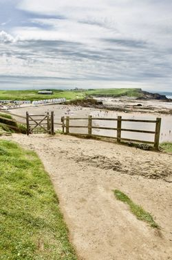 The path to Crooklets Beach, Bude, Cornwall