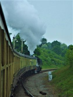 A GWR steam train at Winchcombe