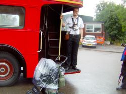 Conductor vintage routemaster 339 service who posed for this picture