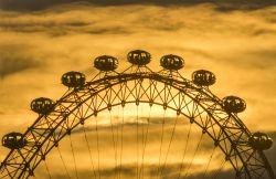 Sunset over the London Eye