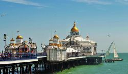 Eastbourne Pier with sail boat