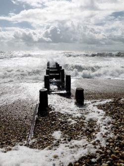 A Very Windy Day at West Wittering, West Sussex.