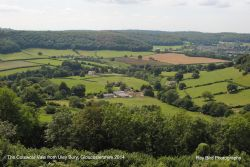 The Cotswolld Vale from Uley Bury, Gloucestershire 2014