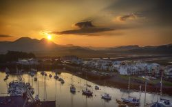 Sunrise over Porthmadog Harbour Wallpaper