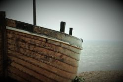 Boat on Hastings Seafront