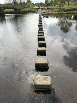Stepping stones in bolton abbey