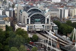 View from the London Eye, Charing Cross Station