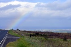 Rainbow on the Moors approaching Whitby